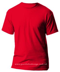 kaos-polos-warna-merah